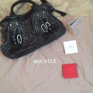 Metallic zebra print Michele bag